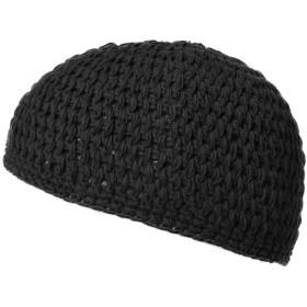 (カジュアルボックス)CasualBox 手編みナチュラルコットンイスラムワッチ キャップ ニット帽 (ブラック) [ウェア&シューズ] メンズ レディース 帽子 Charm チャーム