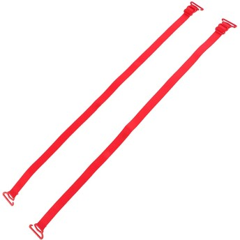 Sharplace 女性 ノンスリップブラストラップ 交換用 ショルダーストラップ 弾性 調節可能 全7色 - 赤
