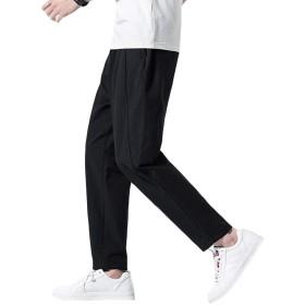 VICALLED サルエルパンツ メンズ 深いポケット ロング丈 大きいサイズ 夏 秋 リネン カジュアル 綿麻 通気 ゴム 紐