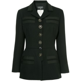 Chanel Pre-Owned スリムフィット ジャケット - ブラック