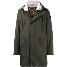 Moose Knuckles lined hooded coat - グリーン