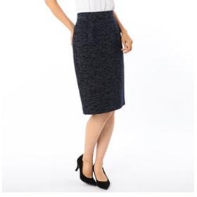 【NOLLEY'S:スカート】ツイーディタイトスカート
