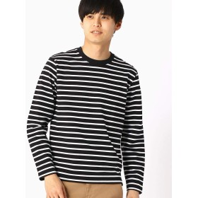 (コムサ イズム) COMME CA ISM ボーダーTシャツ 47-65TL03-109 M ブラック