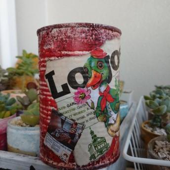 リメイク缶 No.1アヒル( ゜∋゜) *クリムゾンレッド*