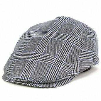 ハンチング 帽子 メンズ/borsalino 秋冬/ボルサリーノ 帽子/グレンチェック ウール/グレー M(56.5cm)