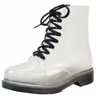 Burning Go レディース レインシューズ レインブーツ 透明 ショートブーツ 防水 軽量 長靴 男女兼用 晴雨兼用 滑り止め 梅雨対策 雨の日