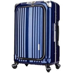 LEGEND WALKER PREMIUM GRAND BLADE ブレイド スーツケース ハードケース キャリーケース フロントオープン 4輪 TSAロック 38L 機内持込可 6603-50 (ネイビー)