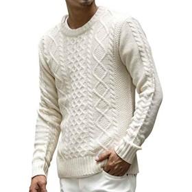(アドミックス アトリエサブメン) ADMIX ATELIER SAB MEN メンズ ニット セーター ケーブル編みクルーネックセーター 02-51-7104 50(L) オフホワイト
