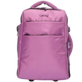 【LeeDee】 2WAYキャリーバッグ キャスター付き、ライラック、軽量、機内持ち込みサイズ