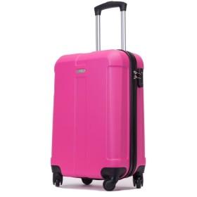 スーツケース 超軽量 ファスナー Mサイズ SSサイズ キャリーバッグ (機内持込、SSサイズ, ローズレッド)