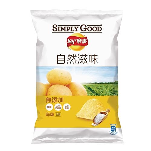 項目 : 說明 商品名稱 : SIMPLY GOOD 樂事海鹽味洋芋片81G 品牌 : 樂事 商品種類 : 休閒食品 數量 : 保存方式 : 常溫 食用方式 : 內容物成份 : 原料:馬鈴薯、棕櫚油、