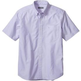 [エディー・バウアー] Eddie Bauer 半袖ストレッチオックスフォードソリッドロゴボタンダウンシャツ(グースロゴ刺しゅう入り) 半袖シャツ メンズ (コンコード M)