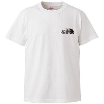 (ザ・ノース・ロケット)THE NORTH ROCKET 半袖 Tシャツ ホワイト L ロゴ小