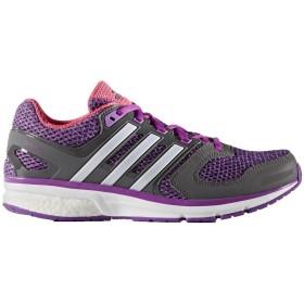 [アディダス] Questar Boost Womens Running Trainers Sneakers (uk 4.5 us 6 eu 37 1/3, purple grey white BA9310)
