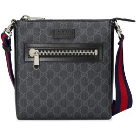 Gucci GGスプリーム メッセンジャーバッグ - ブラック
