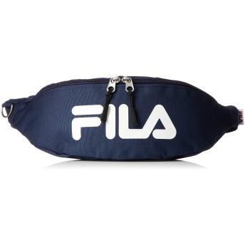 [フィラ] ウエストバッグ メンズ レディース 斜めがけ ボディーバック カジュアル ブランド 軽量 ポリエステル 小型 旅行 ネイビー F