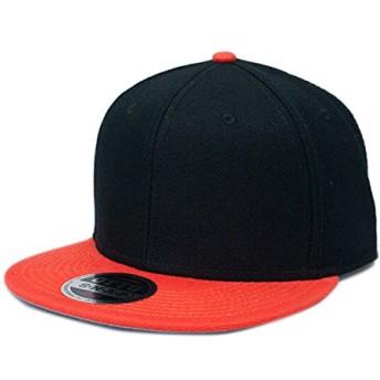 OTTO オット ウールブレンド ベースボールキャップ オレンジ×ブラック 620303-Orange/Black 125-978 無地 ベースボール キャップ スナップバック フラットバイザー プロスタイル 帽子 オリジナル 別注 刺繍 対応