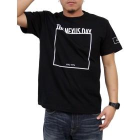 (リアルコンテンツ)REAL CONTENTS tシャツ メンズ 大きいサイズ ティシャツ 半袖Tシャツ スクエア ロゴ logo ストリート 柄 ブランド プリント t-シャツ rcst1247 (M, BLACK)