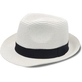 Stynice 麦わら帽子 メンズ サイズ調整 大きいサイズ 中折 ハット 55-58cm