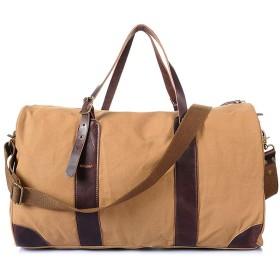 バッグ キャンバス トラベルバッグ キャンバス 荷物バッグ 特大 旅行 バッグハンドバッグ ショルダー バッグ メッセンジャーバッグ 大容量 旅行 (Color : Camel color)