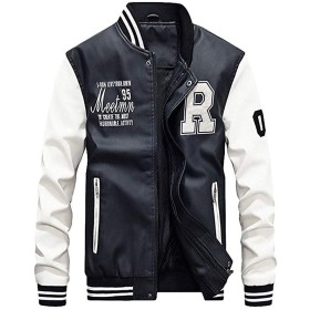 [マインサム] スタジャン メンズ コート トップス 合皮 ライダース ジャケット 大きいサイズ 冬 革 服 裏起毛 防寒 スポーツアウター ホワイト M