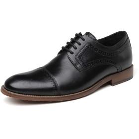 [AmazingJP] 革靴 メンズ靴 ビジネスシューズ 本革 メンズシューズ ストレートチップ 外羽根 アウトレット (275, ブラック1)