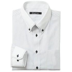 【メンズ】 形態安定デザインYシャツ(ベーシックシルエット) - セシール ■カラー:ライトグレー ■サイズ:41(裄丈80),39(裄丈78),39(裄丈80),39(裄丈82),43(裄丈82)