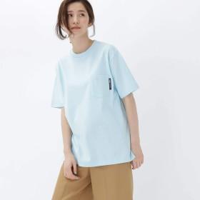 BASE CONTROL(Ladies)(ベースコントロール(レディース))ヘビーウェイト Tシャツ クルーネック ポケット 半袖Tシャツ サックス(090) 02(M)