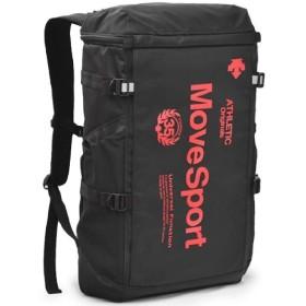 バックパック オリジナルデザイン デサント DESCENTE MoveSport スクエアバックパック 30L メンズ レディース スポーツ カジュアル 旅行 合宿 部活 通勤 通学/DMALJA04DT ((BKRD)ブラック/レッド)
