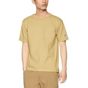 [チャンピオン] T1011 US Tシャツ ポケット付 MADE IN USA C5-P305 メンズ ベージュ 日本 S (日本サイズS相当)