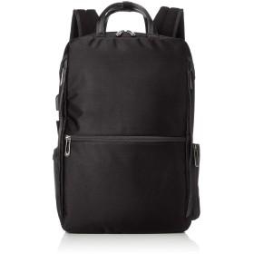 [エースジーン] ビジネスリュック W-シールドパック B4 2気室 PC・タブレット収納 セットアップ USBポート付 ブラック×グレー