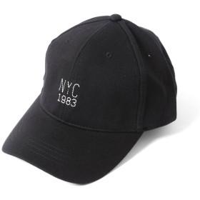(エムエイチエー) M.H.A.style NEW YORK ロゴ刺繍ローキャップ CAP ワークキャップ NYC 男女兼用 21255 E.ブラック