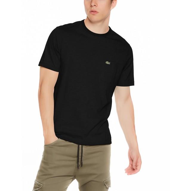 [ラコステ] Tシャツ TH633EL メンズ ブラック EU 003-(日本サイズM相当)