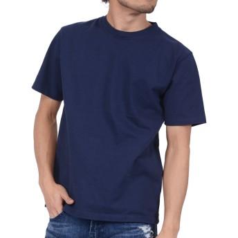 ティーシャツドットエスティー Tシャツ 半袖 無地 超厚手 スーパーヘビーウェイト 10.2oz メンズ ネイビー XS