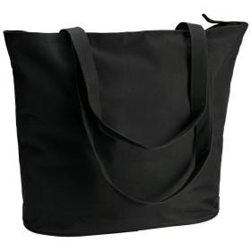(アイディー) ID ショッピングバッグ ビーチバッグ トートバッグ お買い物かばん (ワンサイズ) (ブラック)