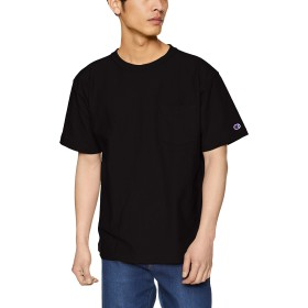 [チャンピオン] リバースウィーブ ポケットTシャツ C3-P318 メンズ ブラック 日本 XL (日本サイズXL相当)