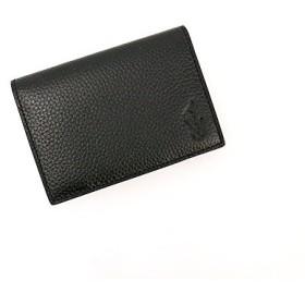 ポロ・ラルフローレン シュリンクレザー カードパスケース/ブラック[P-623SH]