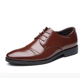 [PIRN] 高級紳士靴 ブティック メンズ ブラウン レザー 歩きやすい 27.0cm 高級 抗菌 足ムレ 防止 普段用 通勤 フォーマルウェア 男性用 革靴 軽量 柔らかい ストレートチップ 防臭 通気性 ファッション ビジネスシューズ オールシーズン