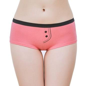 Rokery 綿 レディース ショーツ ボックスショーツ ボクサーパンツ ローライズ スポーツショーツ 響きにくい 高通気性 パンツ 下着 女性 美形ショーツ 6枚セット