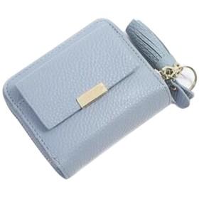 Smiry財布 レディース 二つ折り 小銭入れ コインケース カードケース 小さい財布 高級レザー 人気 かわいい フリンジ付け 5色
