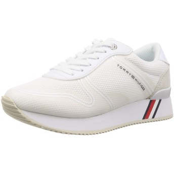 [トミーヒルフィガー] ミックス マテリアル メッシュ スニーカー 靴 シューズ 靴 FW0FW04137 23.5cm ホワイト