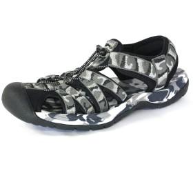 [LAD WEATHER] [ラドウェザー]スポーツ サンダル 軽量 滑り止め 耐衝撃 メンズ シューズ 靴 ladshoes002 (24.5, グレー)