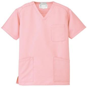 【Lumiere】ルミエール 驚異の18色展開 カラフル スクラブ 白衣 (861405) ピーチ M