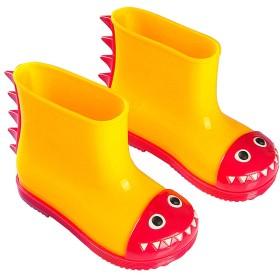 [OldPAPA] 子供用レインブーツ、可愛い恐竜柄、雨靴 男の子 女の子 防水 軽量、可愛いキッズ用レインブーツ、柔軟性、耐久性、快適、雨季が学校に行くの