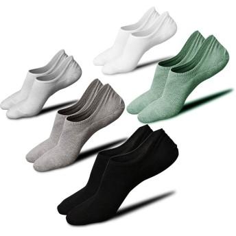 靴下 メンズ くるぶしソックス ショートソックス アンクルソックス スニーカーソックス メンズ スポーツ用抗菌防臭 通気性抜群 5足組 24-28cm