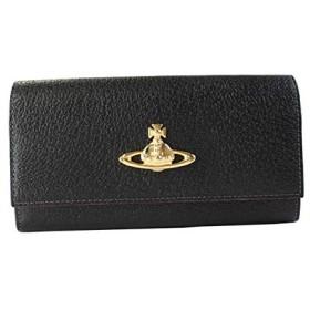 [ヴィヴィアンウェストウッド] 財布 長財布 レディース EXECUTIVE かぶせ長財布 がま口 牛革 レザー 3118C98 ブラック