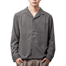 ジョーカーセレクト(JOKER Select) オープンカラーシャツ メンズ トップス 長袖 長袖シャツ シャツ 開襟 L チャコール(02)