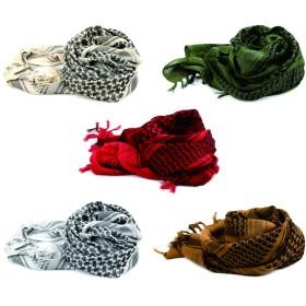 アラブスカーフ 100%コットンの軍事的なスタイルのストール ファッションマフラー (5PC-1pc 用 each カラー)