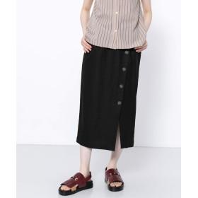 [センスオブプレイス] スカート ボタンディテールタイトスカート レディース BLACK S