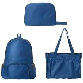 Ymgot 超軽量 折りたたみ リュックサック バックパック ショルダーバッグ 大容量 買い物 登山 旅行 (ブルー)